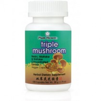 Triple Mushroom Capsules (best by 9/4/18)